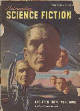 [Image: Front cover of 1951 Astounding Science Fiction magazine.]
